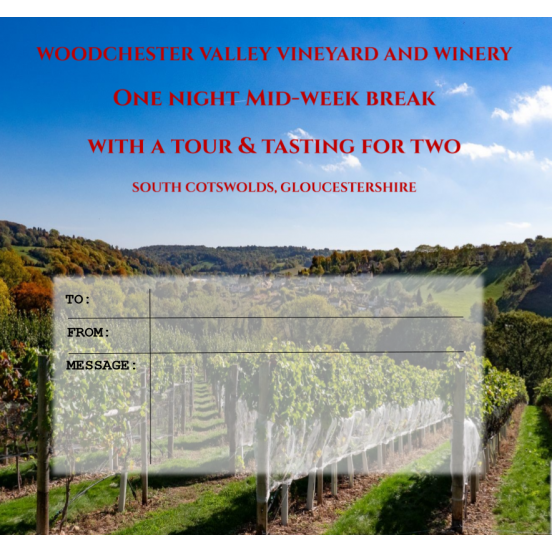 One night mid-week break with a Tour & Tasting (including postage)
