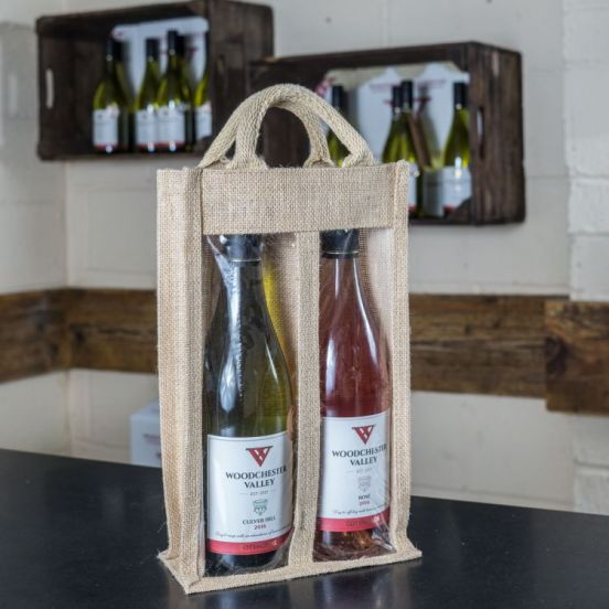 2 Bottle Jute Bag (Bag only)