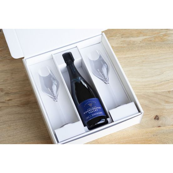Gift box set with glasses
