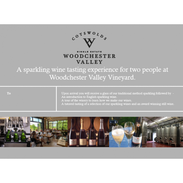 Sparkling Wine Tour & Tasting Gift Voucher for Two ( including postage)